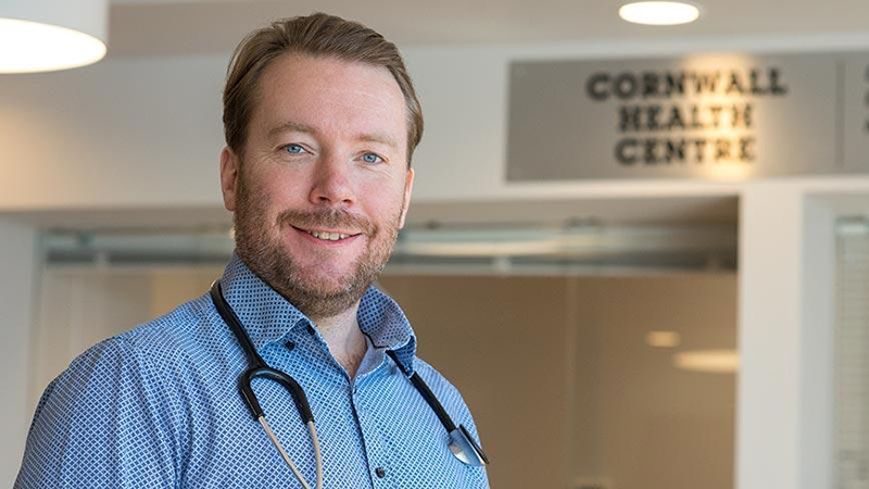 Dr. Padraig Casey in his clinic